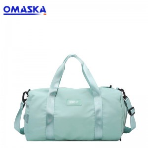 2020 OMASKA fabric  zipper pillow ladies travel sport duffle bag