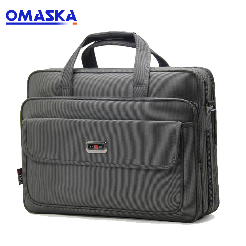 Wholesale Customised Bag Accessories - Large-capacity computer bag Oxford cloth waterproof briefcase one generation document package business travel leisure bag – Omaska