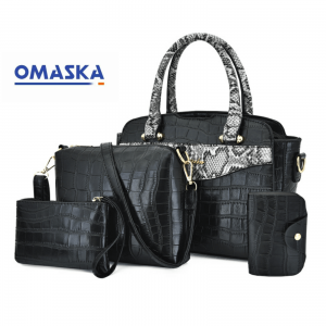 Hot sales new 4pcs PU women bags shoulder bag handbag set