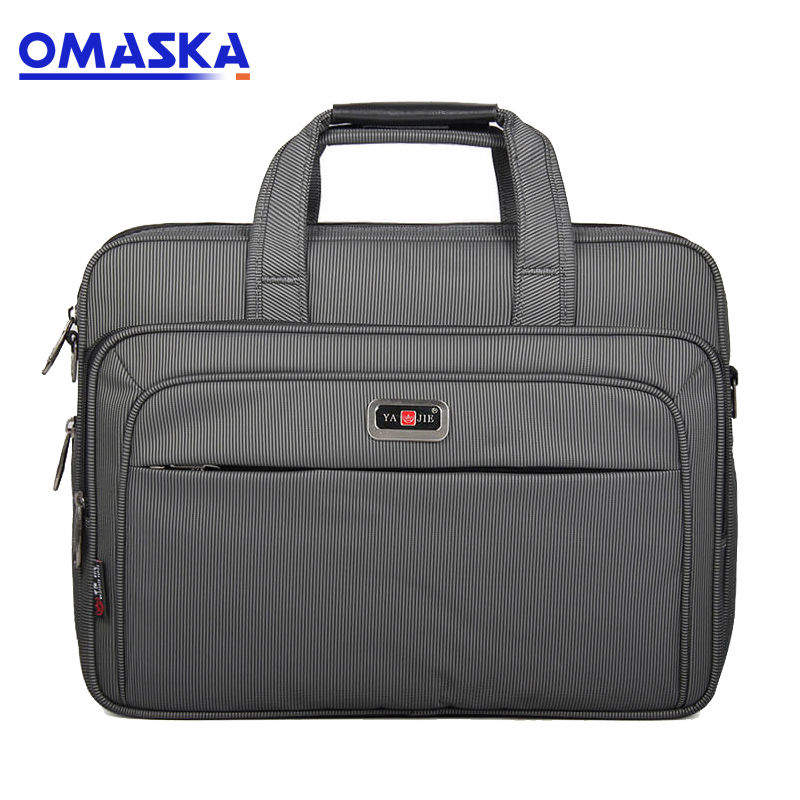 China Cheap price High Quality Suitcase - Men's briefcase cross-section portable business computer bag custom business travel bag Oxford cloth large capacity file package – Omaska