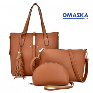 Luxury Fashion PU Leather ladies hand bags 3 set women handbags