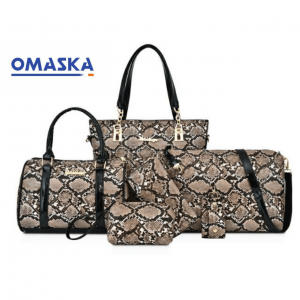 6 in 1 python pattern PU leather ladies purse handbags for women
