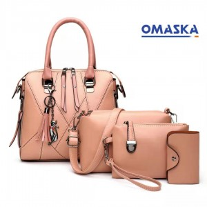 Wholesale high quality women Pu 4pcs handbags set