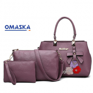 Cheap Wholesale Fashion Embroidery Design 3 In 1 Ladies Hand Bags Sets