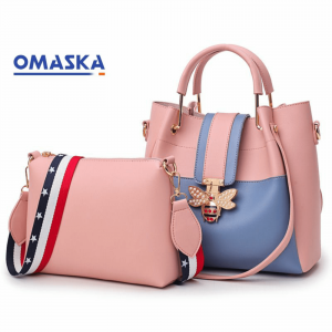 New Fashion 2pcs Bucket Handbag Large Capacity woman handbags set with butterfly