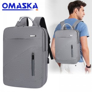 2020 Canton Fair new design oxford 17 inch reflective usb laptop backpack