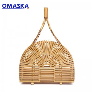 Bamboo Clutch Tote Bag Wooden Handbag Women