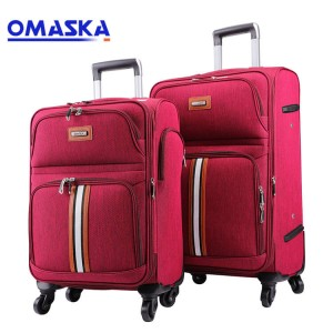 2020 New OMASKA 4 wheels 20 24 28 32 nylon trolley waterproof soft luggage set