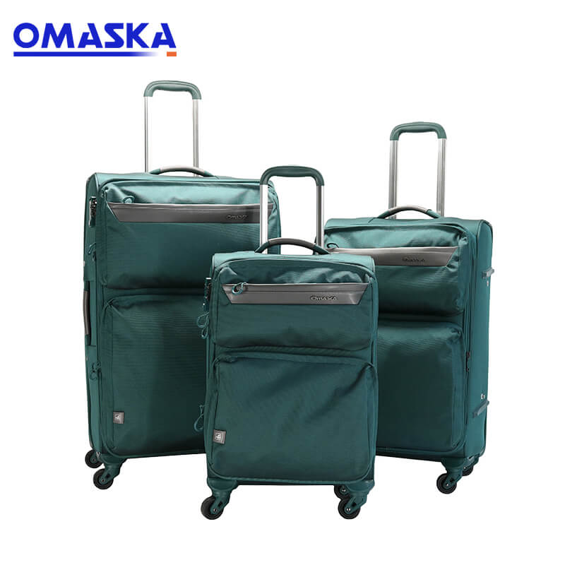 Reasonable price Customised Bag Accessories - Nylon 3 pieces 20 24 28 inch fabric trolley travel luggage set – Omaska