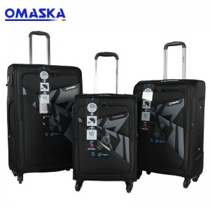 Omaska luggage factory nice quality spinner wheel wholesale custom luxury 3 piece luggage set