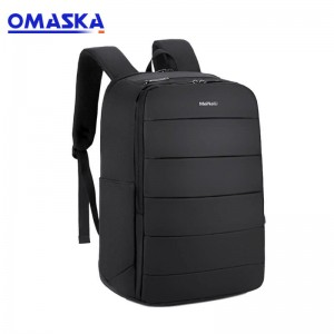 China 2019 waterproof 17″ fashion custom logo embroidery usb charging school laptop backpack