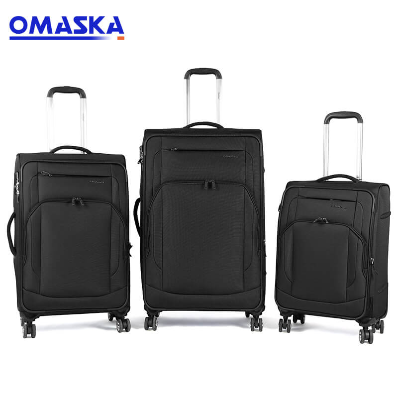 China Cheap price Suitcases - 3 pcs set customize logo nylon TSA lock spinner wheel aluminum trolley luggage trolley bags travel – Omaska
