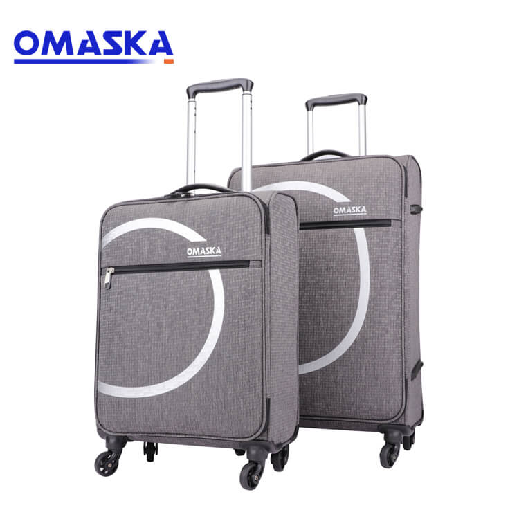 Wholesale design logo 4 spinner wheels printed travel light weight men luggage sets Featured Image