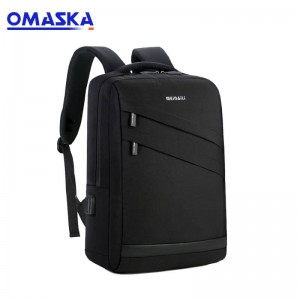 2019 China custom logo fashion waterproof nylon charging usb laptop backpack