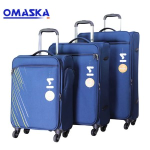 Printing logo3 pcs 20 24 28 Nylon Carry-on Soft Business Trolley Travel Luggage set