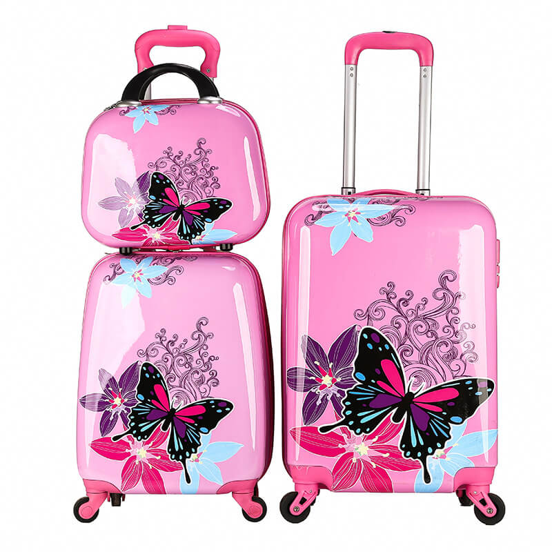 OMASKA brand 2019 new hot selling high quality wholesale custom printing hard shell cute 3 PCS set kids luggage