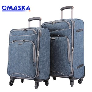 TSA Lock 3pcs unisex Nylon business Custom suitcase Travel Bags Luggage set
