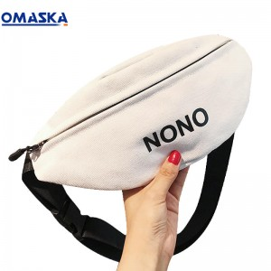 Canton Fair Omaska women waist bag fanny pack canvas