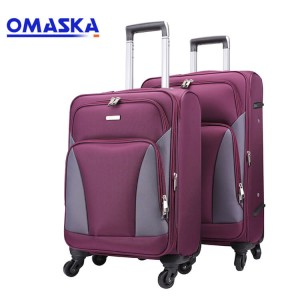 Waterproof nylon spinner wheel travel luggage