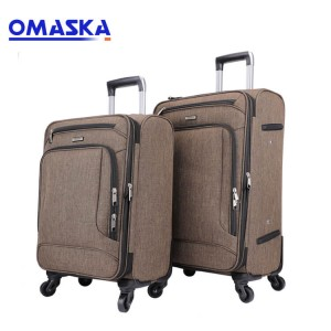 Wholesale nylon fabric soft business travel men 3 pcs 20 24 28 inch set suitcase trolley bag