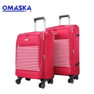 Popular lady design double spinner wheel luggag...
