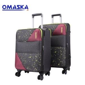 Durable fabric safe TSA lock travel bags luggage