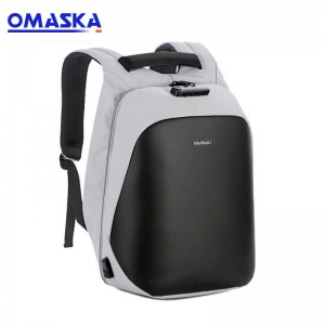 Omaska wholesale fashion usb charging waterproof anti theft nylon travelling laptop backpack man