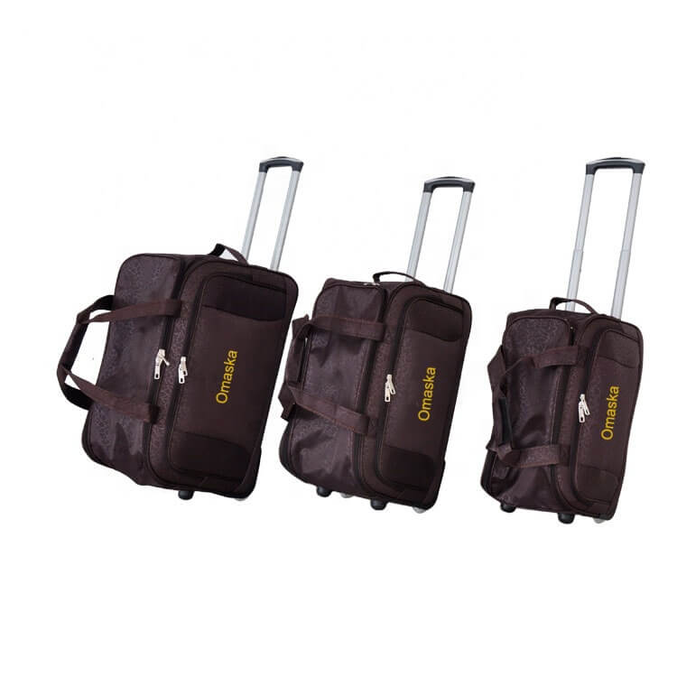 2019 hot selling 3pcs set 19″21″23″ supermarket custom best designer trolley bag