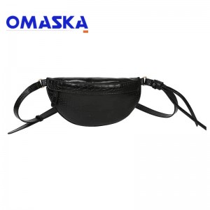 new model women custom waist bag snake skin pattern pu fanny pack