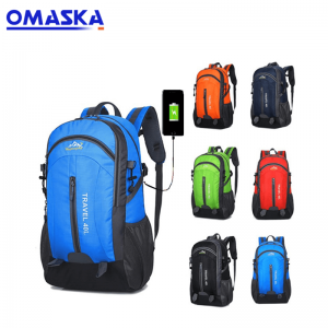 2020 Canton Fair Exhibition usb charger outdoor backpack usb