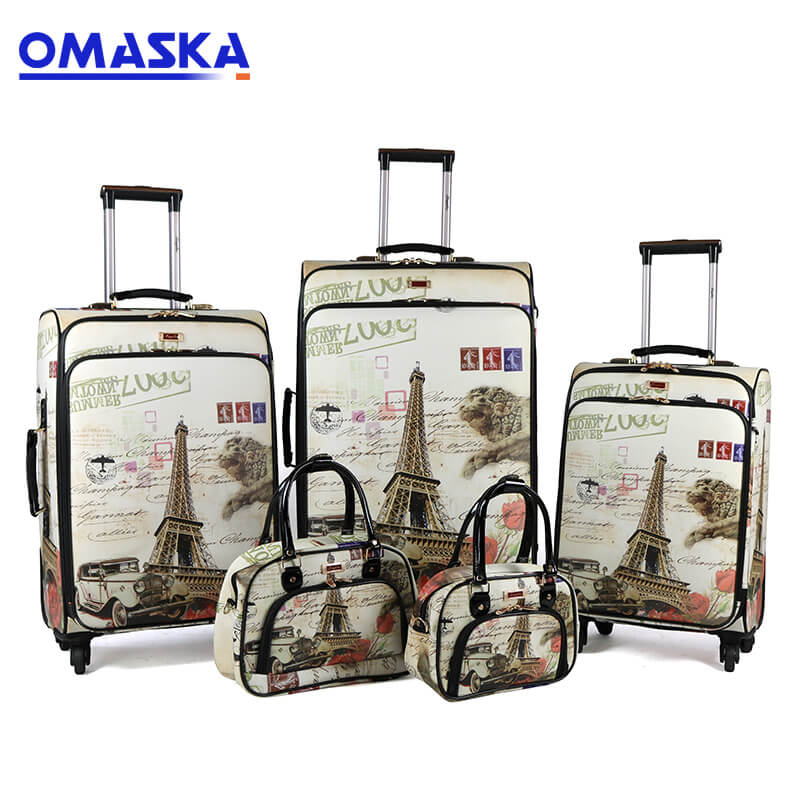 PriceList for Can Ride Smart Suitcase - Factory wholesale PU printing customized travelling bags luggage trolley – Omaska