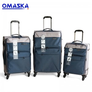2018 hot selling Omaska brand USB charging 3pcs set luggage