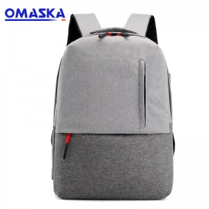OMASKA Custom Wholesle New Design Leisure Student Man Girls Pink Black Laptop Bag USB School Rucksack Backpack