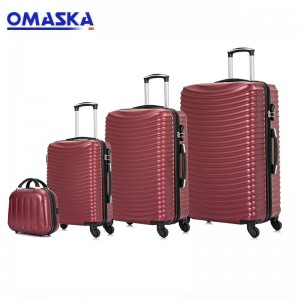 OMASKA 2021 new 4pcs set ABS hard case sipinner...