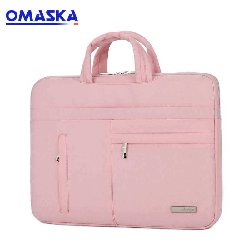 OEM/ODM Supplier 4 Wheels Waterproof Oxford Bags - 13inch 14inch 15.6inch travel custom logo lightweight laptop bag – Omaska