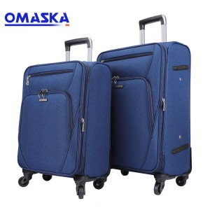 Custom hot sale men blue color 20 24 28 nylon business luggage