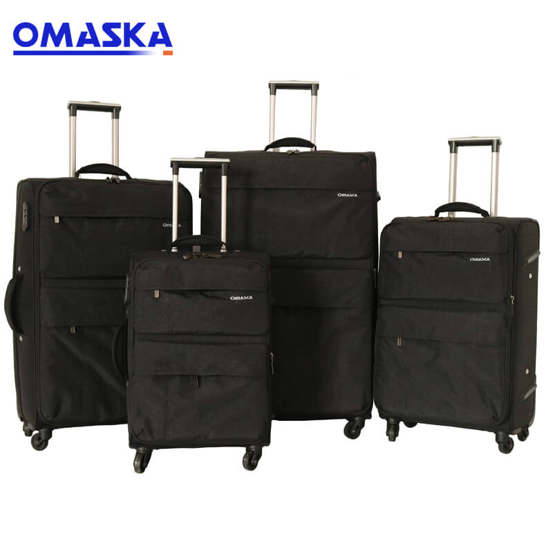 OMASKA 2021 classic waterproof nylon double zipper trolley 4pcs luggage set Featured Image