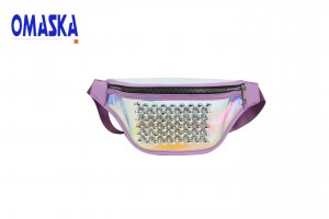 personality diamond fashion lady clear laser fanny pack