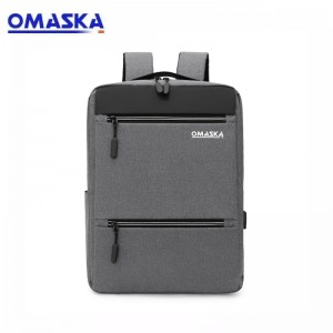 OMASKA 2021 custom logo business travelling usb backpack 15.6 Inch laptop backpack