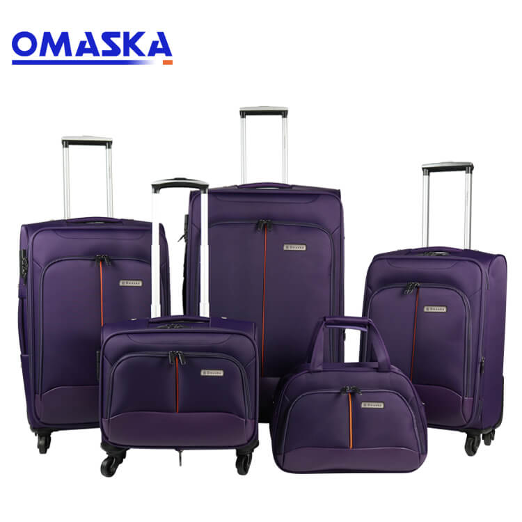 2019 China New Design Suitcase Covers - New 4pcs set soft suitcase manufacturing OEM custom logo wholesale nice quality set of suitcases – Omaska