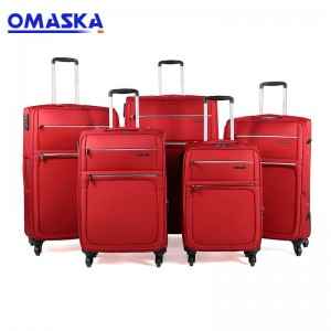 "6 pieces 18"" 20″ 22"" 25″ 28"" 30″  travel trolley luggage leather suitcase set"