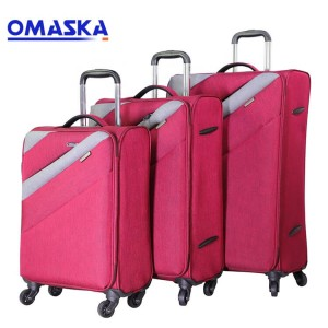Wholesale Fabric trolley travel suitcases bag 2...