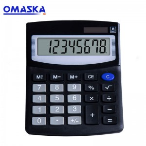 Factory direct solar dual power calculator 8-bit display gift calculator LOGO can be customized