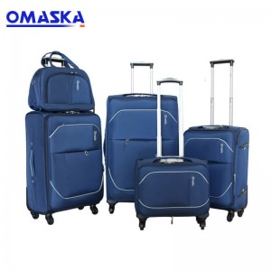 Customize OEM wholesale fashion four wheels travel trolley luggage