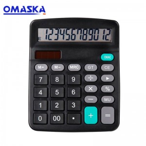 Factory direct supply of new customizable calculator desktop super large screen office dual power calculator