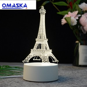 Cross-border hot sale 3D night light novelty electronic products creative LED table lamp projection lamp children birthday gift