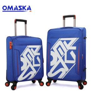 Customized high quality OEM ODM cheap trolley luggage bag sets with combination lock