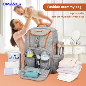 OMASKA 2021 Multi-function Light Mommy Travel Bag Baby Nursery Diaper Backpack