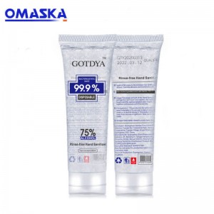 Disposable hand gel contain 75% alcohol 80ml
