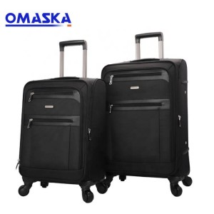 Factory Nylon Custom Baigou Omaska Business Men Black 20 24 28 inch Luggage Sets Travel Bags Trolley Luggage Suitcase